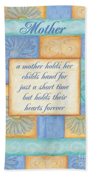 Mother's Day Spa Card Beach Towel