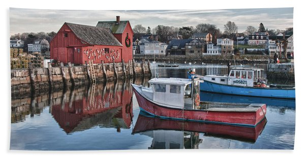 Beach Towel featuring the photograph Motif 1 Sky Reflections by Jeff Folger