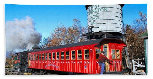 Mount Washington Cog Railway Car 6 Beach Towel