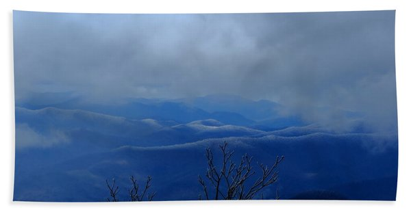 Mountains And Ice Beach Towel