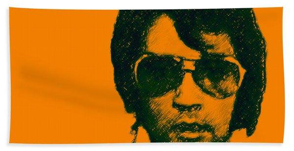 Mugshot Elvis Presley Square Beach Towel