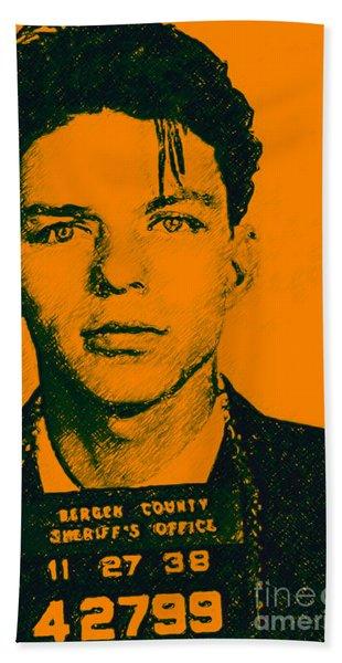 Mugshot Frank Sinatra V1 Beach Towel