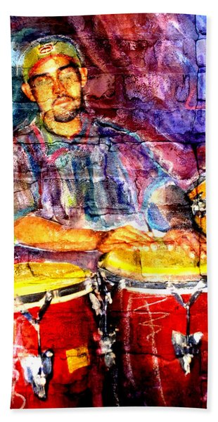 Musician Congas And Brick Beach Towel