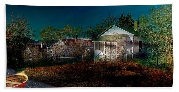 Beach Towel featuring the photograph My Dream House by Gunter Nezhoda