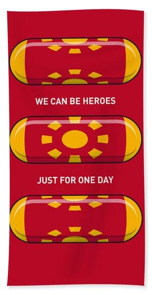 My Superhero Pills - Iron Man Beach Towel