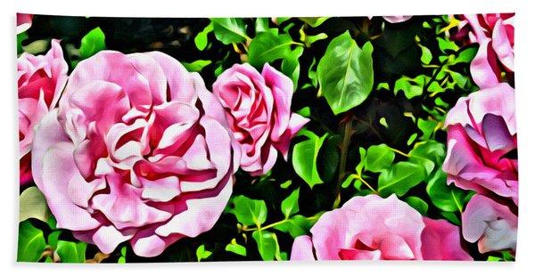 Nana's Roses Beach Towel