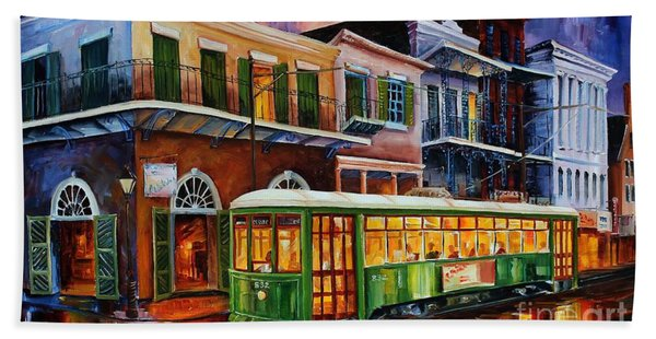 New Orleans Old Desire Streetcar Beach Towel