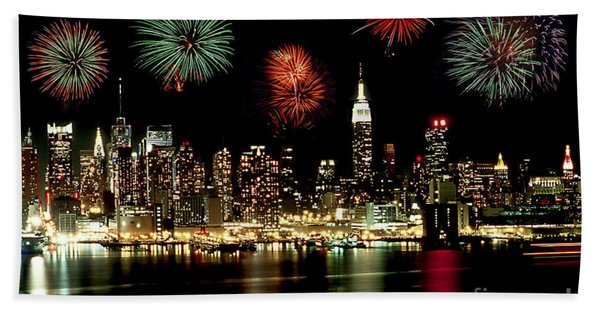 New York City Fourth Of July Beach Towel