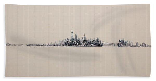New York City Skyline 15x45 2013 Beach Towel