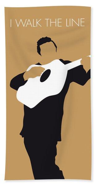 No010 My Johnny Cash Minimal Music Poster Beach Towel