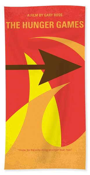 No175 My Hunger Games Minimal Movie Poster Beach Towel