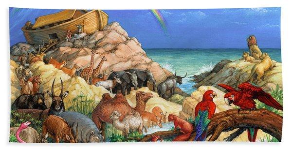 Noah And The Ark Beach Sheet