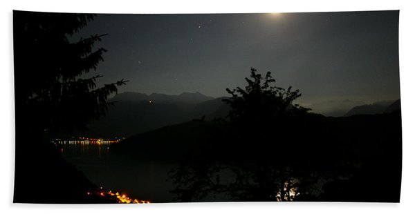 Nocturne In Switzerland Beach Towel