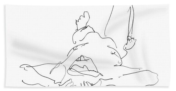 Nude_male_drawings-22 Beach Towel