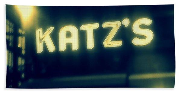 Nyc's Famous Katz's Deli Beach Towel