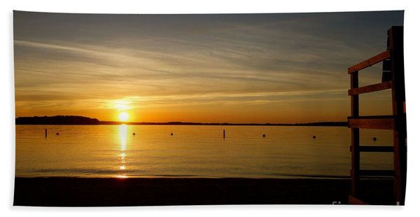 Beach Towel featuring the photograph Off Duty by Jacqueline Athmann