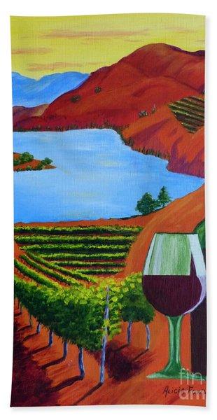 Okanagan Wine Country Beach Towel