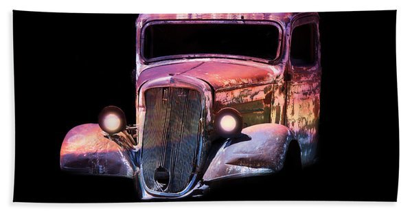 Beach Towel featuring the photograph Old Antique Classic Car by Gunter Nezhoda