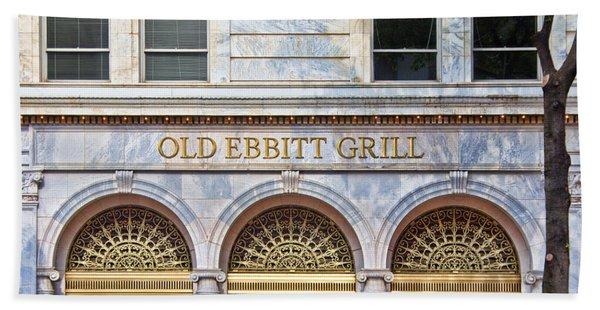Beach Towel featuring the photograph Old Ebbitt Grill by Jemmy Archer