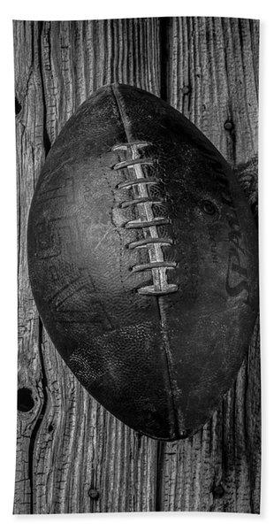 Old Football Beach Towel