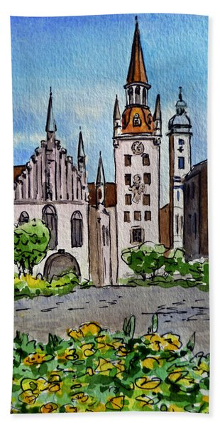 Old Town Hall Munich Germany Beach Sheet