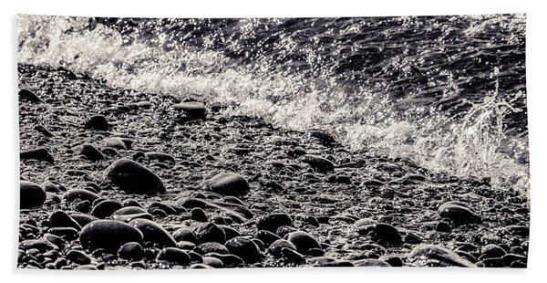 On The Rocks  French Beach Square Beach Sheet