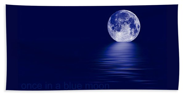 Once In A Blue Moon Beach Sheet