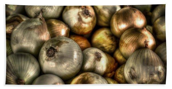 Onions Beach Towel