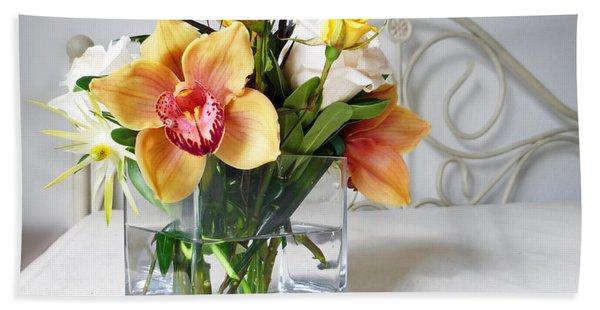 Orchid Bouquet Beach Sheet