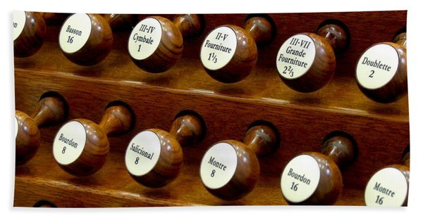 Organ Stop Knobs Beach Towel