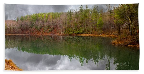 Otter Lake Reflections Beach Towel