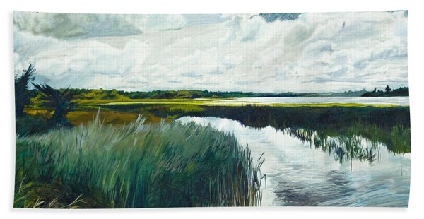 Otter Tail River From Bridge Beach Towel