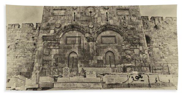 Outside The Eastern Gate Old City Jerusalem Beach Towel