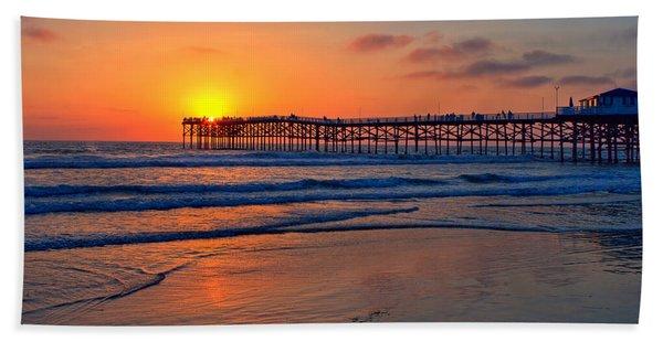 Pacific Beach Pier - Ex Lrg - Widescreen Beach Towel