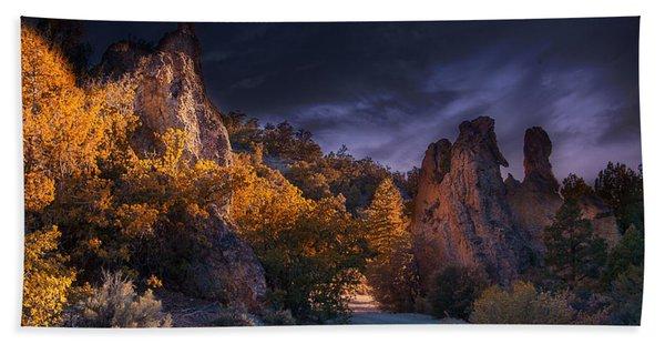 Beach Towel featuring the photograph Pahrump - Road To Wheeler Peak by Gunter Nezhoda