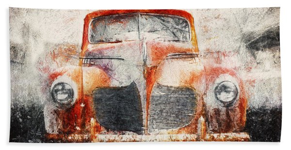 Painted 1940 Desoto Deluxe Beach Towel