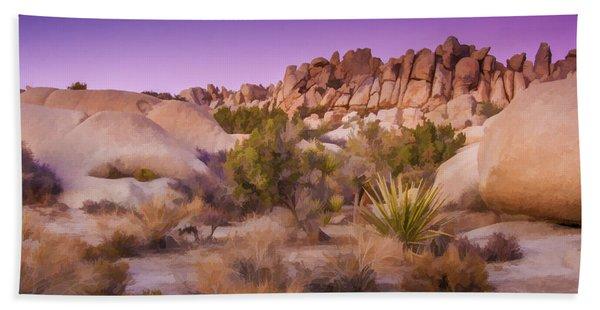 Painterly Desert Beach Towel