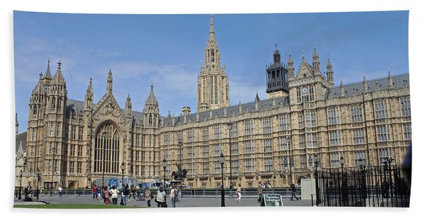 Palace Of Westminster Beach Towel