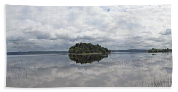 Panorama Of The Lake Plateliai. Lithuania. Beach Towel