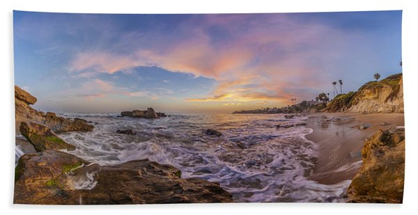 Panorama The Whole Way Round The Cove Beach Towel