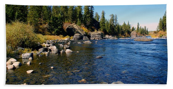 Peace On The Spokane River 2 Beach Towel