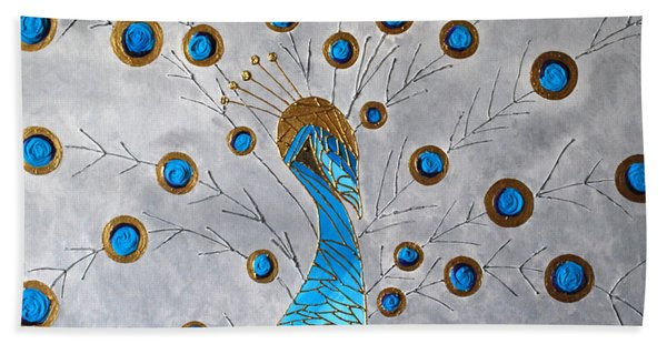 Peacock And Its Beauty Beach Towel