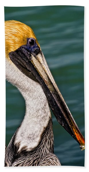 Pelican Profile No.40 Beach Towel