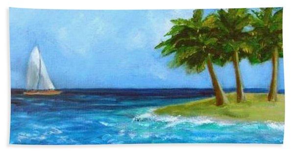 Perfect Sailing Day Beach Towel