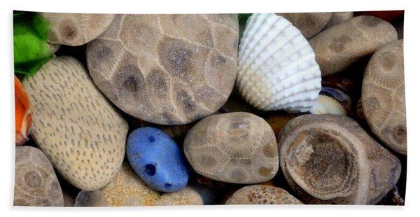 Petoskey Stones V Beach Towel