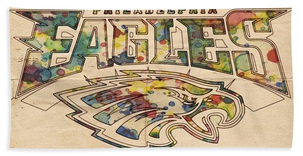 Philadelphia Eagles Poster Art Beach Towel