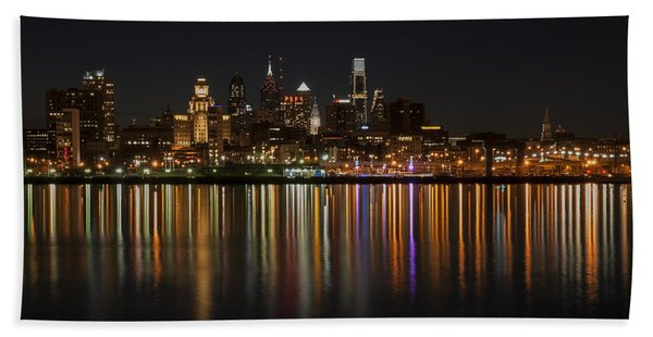 Philly Night Beach Towel
