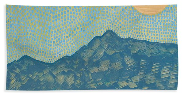Picuris Mountains Original Painting Beach Sheet