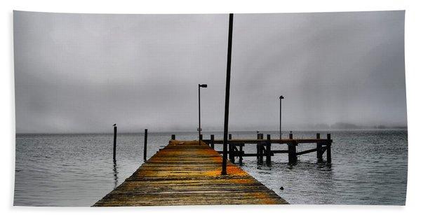 Pier Into The Fog Beach Towel