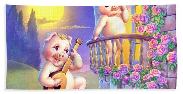 Pigglets Romeo And Juliette Beach Towel